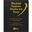 Maryland Corporate Practice and Forms: The Saul Ewing Arnstein & Lehr Manual, 2.8 - electronic version